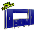 NewAge Products PERFORMANCE 2.0 Blue 9-Piece Cabinet Set with LED Lights