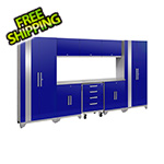 NewAge Garage Cabinets PERFORMANCE 2.0 Blue 9-Piece Cabinet Set