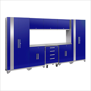 PERFORMANCE 2.0 Blue 9-Piece Cabinet Set with LED Lights