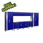 NewAge Garage Cabinets PERFORMANCE 2.0 Blue 12-Piece Cabinet Set with LED Lights