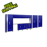NewAge Garage Cabinets PERFORMANCE 2.0 Blue 12-Piece Cabinet Set