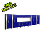 NewAge Products PERFORMANCE 2.0 Blue 14-Piece Cabinet Set with LED Lights