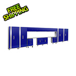NewAge Products PERFORMANCE 2.0 Blue 16-Piece Cabinet Set with LED Lights