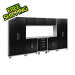 NewAge Garage Cabinets PERFORMANCE 2.0 Black Diamond Plate 9-Piece Cabinet Set