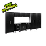 NewAge Garage Cabinets PERFORMANCE 2.0 Black Diamond Plate 10-Piece Cabinet Set