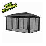Paragon Outdoor 12 x 16 ft. Siena XL Hard-Top Dome Gazebo with Sliding Screen
