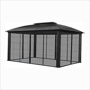 12 x 16 ft. Siena XL Hard-Top Dome Gazebo with Sliding Screen