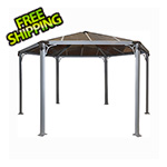 Palram Monaco Hexagon Garden Gazebo (Grey / Bronze)