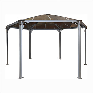 Monaco Hexagon Garden Gazebo (Grey / Bronze)
