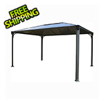 Palram 10' x 14' Martinique Rectangle Garden Gazebo (Grey / Bronze)