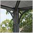 10' x 14' Martinique Rectangle Garden Gazebo (Grey / Bronze)