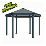 Palram Roma Hexagon Garden Gazebo (Grey / Bronze)