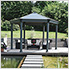 Roma Hexagon Garden Gazebo (Grey / Bronze)