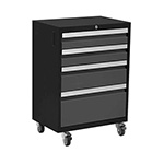 NewAge Garage Cabinets BOLD 3.0 Series Grey 4-Drawer Rolling Tool Cabinet