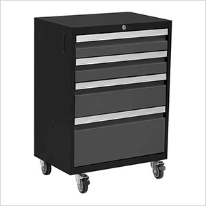 BOLD 3.0 Series Grey 4-Drawer Rolling Tool Cabinet