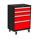 NewAge Garage Cabinets BOLD 3.0 Series Red 4-Drawer Rolling Tool Cabinet
