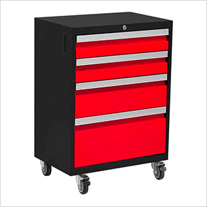 BOLD 3.0 Series Red 4-Drawer Rolling Tool Cabinet