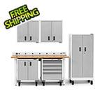 Gladiator GarageWorks 7-Piece White Garage Cabinet System