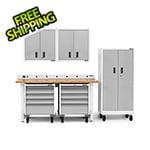 Gladiator GarageWorks 7-Piece White Garage Cabinet Set