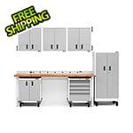 Gladiator GarageWorks 13-Piece White Garage Cabinet System
