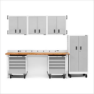 13-Piece White Garage Cabinet Set