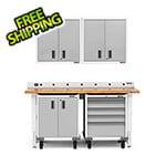 Gladiator GarageWorks 6-Piece White Garage Cabinet System