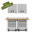 Gladiator GarageWorks 6-Piece White Garage Cabinet Set