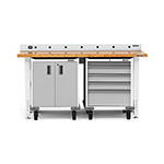 Gladiator GarageWorks 4-Piece White Workbench Cabinet System