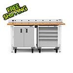 Gladiator GarageWorks 4-Piece White Garage Workbench System