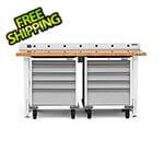Gladiator GarageWorks 4-Piece White Garage Workbench Set