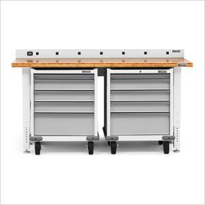 Peachy 4 Piece White Workbench Cabinet Set Uwap Interior Chair Design Uwaporg