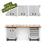 Gladiator GarageWorks 12-Piece White Garage Cabinet System