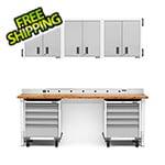 Gladiator GarageWorks 12-Piece White Garage Cabinet Set