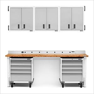 12-Piece White Garage Cabinet Set