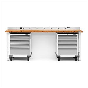 4-Piece White Garage Workbench System