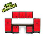 Gladiator GarageWorks Premier 14-Piece Red Garage Cabinet Set