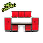 Gladiator GarageWorks 14-Piece Red Premier Garage Cabinet System