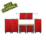 Gladiator GarageWorks 13-Piece Red Premier Garage Cabinet System