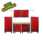 Gladiator GarageWorks 12-Piece Red Premier Garage Cabinet Set