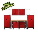 Gladiator GarageWorks Premier 12-Piece Red Garage Cabinet Set