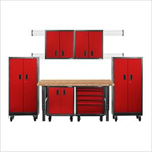 12-Piece Red Premier Garage Cabinet Set