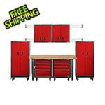 Gladiator GarageWorks 12-Piece Red Premier Garage Cabinet System