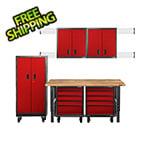 Gladiator GarageWorks 11-Piece Red Premier Garage Cabinet System