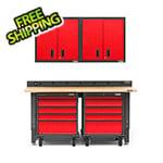 Gladiator GarageWorks 6-Piece Red Premier Garage Cabinet System