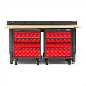 4-Piece Red Premier Garage Workbench System