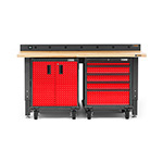 Gladiator GarageWorks 4-Piece Red Premier Garage Workbench Set
