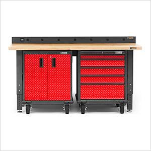 Pleasant 4 Piece Red Premier Garage Workbench Set Uwap Interior Chair Design Uwaporg