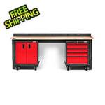 Gladiator GarageWorks Premier 4-Piece Red Garage Workbench Set