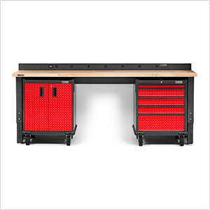 4-Piece Red Premier Garage Workbench Set