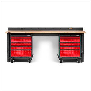 4-Piece Red Premier Garage Workbench System